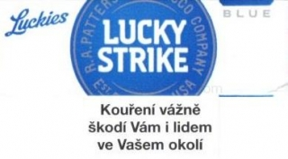 Lucky strike blue soft pack