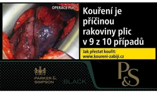 Tabák cigaretový P&S black 30g
