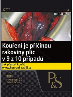 Tabák cigaretový P&S black 55g