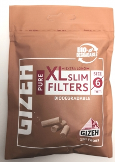 Filtr Cigaretový Gizeh Pure Biodegradable 6mm - 120 ks