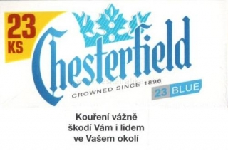 Chesterfield blue XL 23
