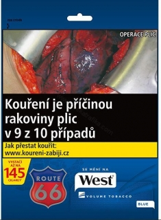 Tabák cigaretový West blue 60g