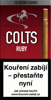 Colts ruby 10 ks cigarillos s filtrem